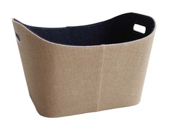 Jute Wood Basket JC6003