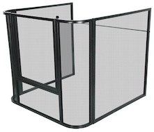 Mesh Nursery Guard Fire Screen JC2838LBK