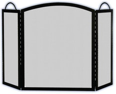 3 Fold Fire Screen JC382BK